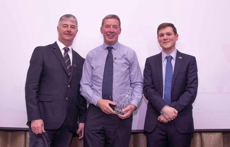 (l-r) Bob Taylor, STRI, Gordon Moir, St Andrews Links Trust (retired), Rowan Rumball, STRI