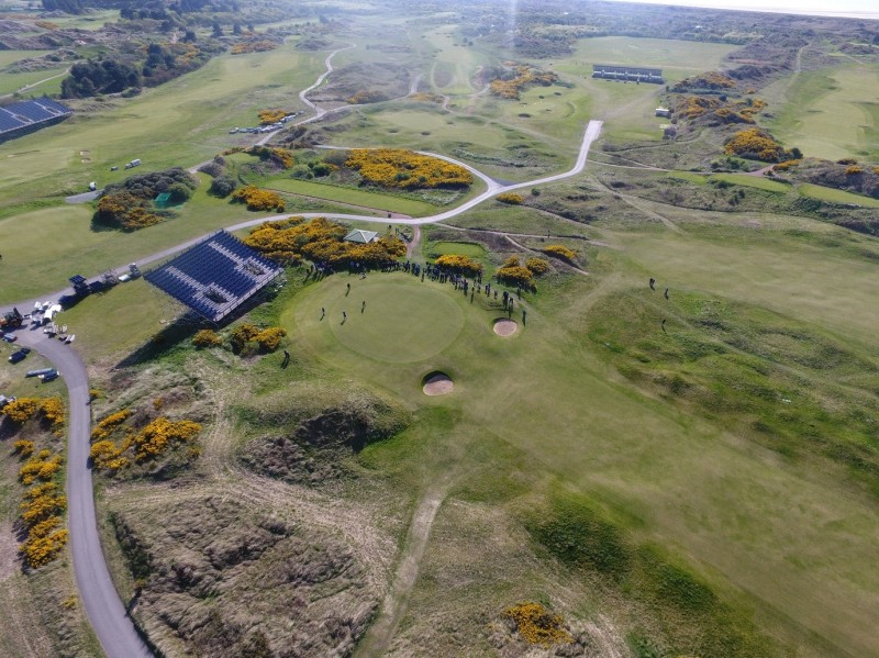 Aerial golf course image
